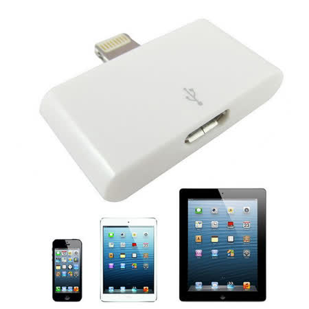 LN5款iPad4, iPad mini, iPhone5 充電傳輸轉接頭(Micro USB 5Pin 轉 Lightning 8Pin)