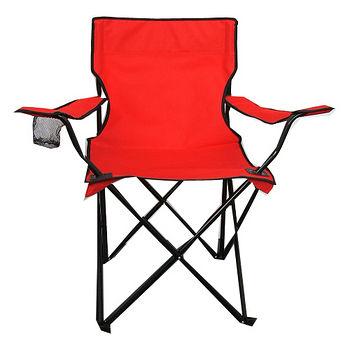 休閒扶手折疊椅-紅(48*48*80cm)