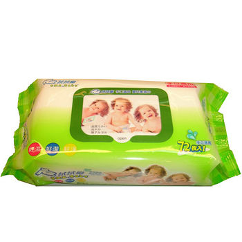 拭拭樂超純水嬰兒柔濕巾72枚*3包(組)