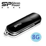 廣穎 SiliconPower LuxMini 322 8GB 優雅時尚碟(酷黑)