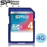 廣穎 SiliconPower 4GB SDHC Class4 記憶卡