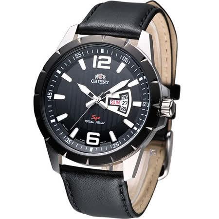 ORIENT 先鋒尊爵時尚腕錶 FUG1X002B 黑皮