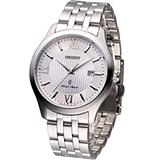 ORIENT 淬鍊薄型經典腕錶 FUNE7002W 銀白