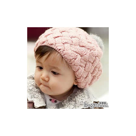 DF BAGSCHOOL - 給寶貝一個暖冬~編織毛帽(共2色)
