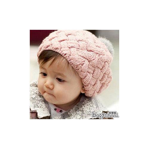 DF BAGSCHOOL ~ 給寶貝一個暖冬^~編織毛帽^(共2色^)
