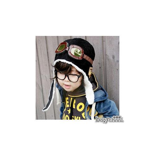 DF BAGSCHOOL ~ 給寶貝一個暖冬^~飛行帽^(共2色^)