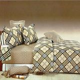《SHINEE》加大雙人精梳棉四件式舖棉兩用被床包組(風華)