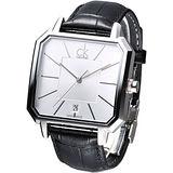 cK Solid 現代爵士個性時尚腕錶-銀白