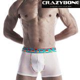 【LEADER】CRAZYBONE 機能運動四角褲(白色)