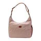 Longchamp 豔彩繽紛斜背包-藕粉色