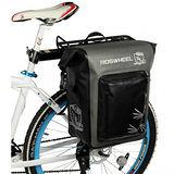 PUSH! 自行車用品 防暴雨及八級風力 馬鞍袋包 後貨袋 單肩背包贈送車尾警示燈
