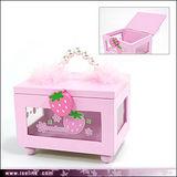 【甜蜜草莓】手提式隨身木盒
