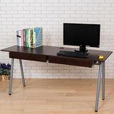 BuyJM 傑利2抽A型工作桌(寬160cm)-胡桃木色