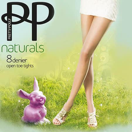 『摩達客』英國進口【Pretty Polly】 自然透明前開露趾設計彈性絲襪