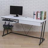 BuyJM 凱特附電線孔/鍵盤/抽Z型工作桌(寬160cm)-可選色