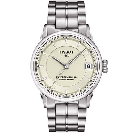 TISSOT T-Classic Luxury 天文台認證機械腕錶-銀 T0862081126100