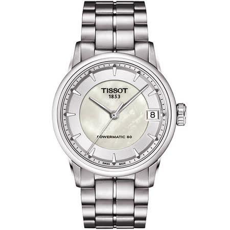 TISSOT T-Classic Luxury 珍珠貝機械腕錶 T0862071111100
