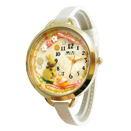 【韓國MINI 】手工軟陶創意手錶-森林小兔