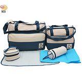 高級進口花瑤布5件組多功能媽媽包送多功能內袋(B05)