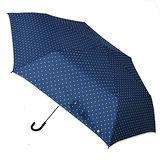 【w.p.c.】微甜圓點*晴雨兩用彎把手開三摺傘(深藍)
