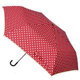 【w.p.c.】微甜圓點*晴雨兩用彎把手開三摺傘(亮紅)