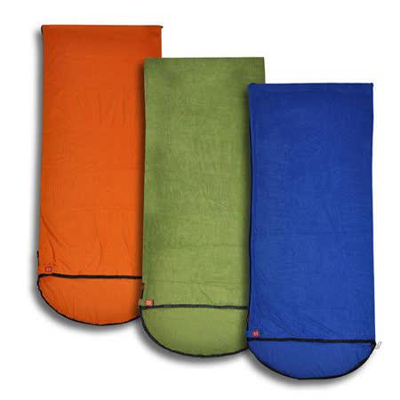 PUSH! 登山戶外用品 全開式四季 睡袋 內膽 空調被