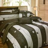 《KOSNEY 》星球樂園(頂級加大AB花版活性精梳棉六件式床罩組台灣精製)