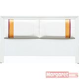 Margaret-艾麗斯混色雙人5尺床頭片(白色)