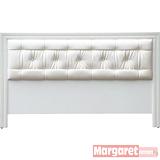 Margaret-華麗水鑽雙人5尺床頭片(白色)