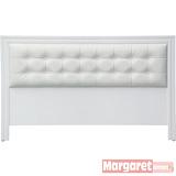 Margaret-華爾滋格紋雙人5尺床頭片(白色)