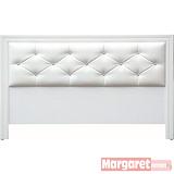 Margaret-奧克蘭水鑽雙人5尺床頭床(白色)