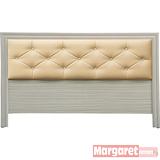 Margaret-奧克蘭水鑽雙人5尺床頭床(秋香)