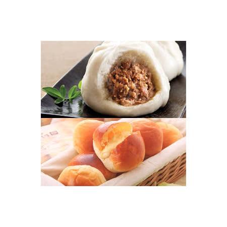 【巴特里+新竹黑貓包】爆漿奶油餐包6包+新竹黑貓包20入