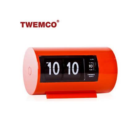 【TWEMCO】機械式 翻頁鐘 復古收藏 圓筒造型 鬧鐘功能 (AP-28 橘色)