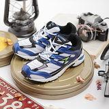 日本瞬足機能運動鞋★魔動爪款-5871WBK-超大童