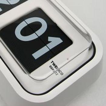 【TWEMCO】復古收藏 經典大數字翻頁鐘 桌鐘掛鐘 保固一年 (BQ-58 白色)