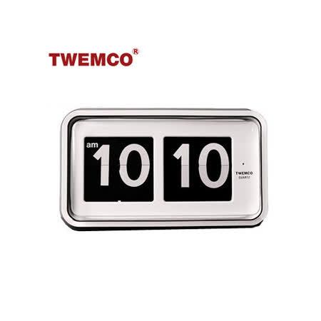 【TWEMCO】復古收藏 大數字翻頁鐘 掛鐘桌鐘德國機芯 (BQ-100 白色)