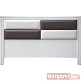 Margaret-威利混搭雙人5尺床頭片(白色)