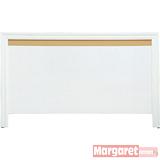 Margaret-簡約羅拉雙人5尺床頭片(白色)