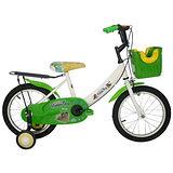 Adagio 16吋酷樂狗打氣胎童車附置物籃-綠色