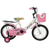 Adagio 16吋酷樂狗打氣胎童車附置物籃-粉色