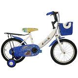 Adagio 16吋酷樂狗打氣胎童車附置物籃-藍色