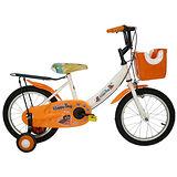 Adagio 16吋酷樂狗打氣胎童車附置物籃-橘色