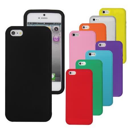 [ZIYA] iPhone 5 矽膠保護套-繽紛炫彩1+1