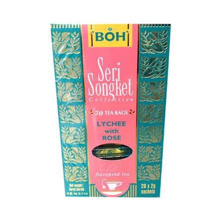 BOH 寶樂茶 風味紅茶包-荔枝玫瑰味(20入/盒)
