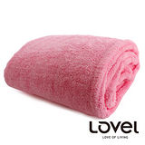 LOVEL馬卡龍超細纖維長毛絨多功能懶人袖毯/被毯(俏粉紅)