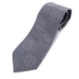 GIORGIO ARMANI 簡約時尚點點雙G LOGO 絲質領帶-淺灰色
