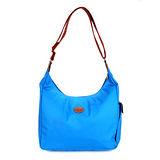 Longchamp 豔彩繽紛斜背包-釉藍色