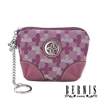 【BERNIS貝爾尼斯】幸運Clover 俏麗款隨行縮小款零錢包-Happiness薰紫