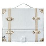 【正品SAMDI旅行趣】日韓最夯復古旅行箱ipad4保護皮套,支援休眠功能-復古白